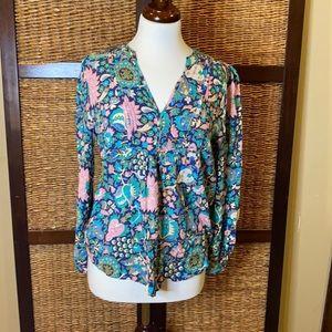 Loft medium floral viscose blouse